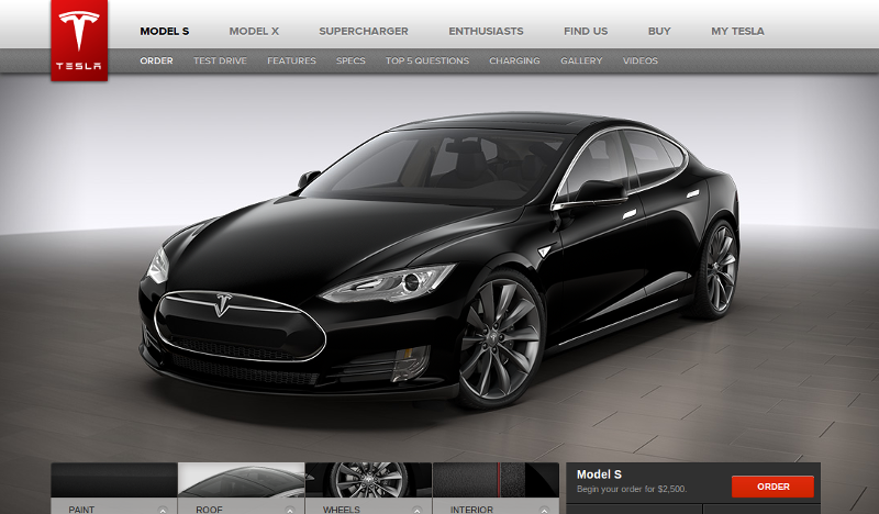 Tesla motors design studio